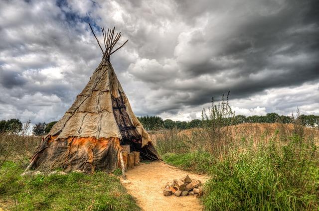 šotor indijanski naraven